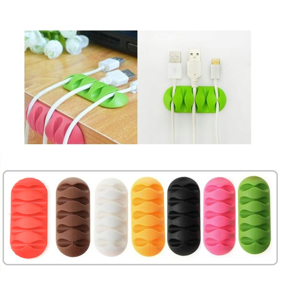 cable organizer phone Cable Winder Earphone clip Charger Organizer Management Wire Cord fixer Silicone Holder