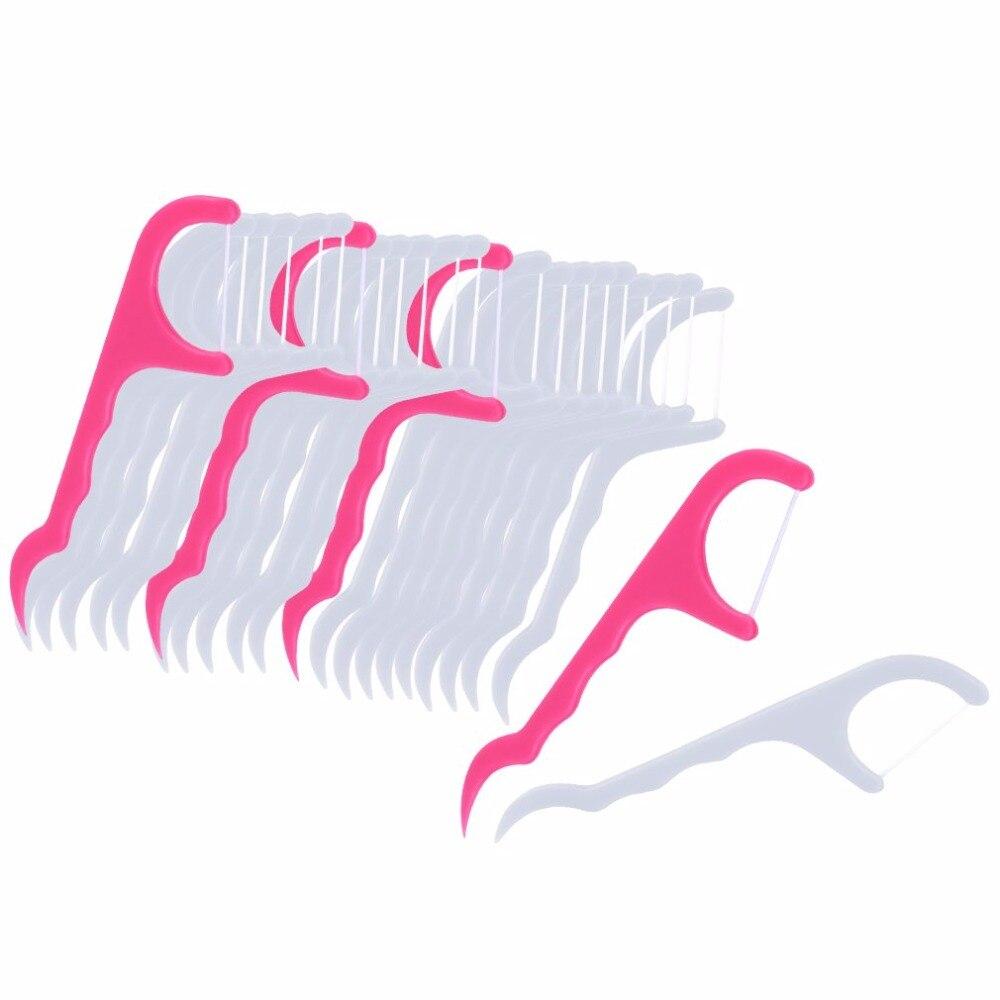 25 шт Двойная Головка зубной нити Палочки уход за зубами нить палочка для пилинга полости рта резинки гигиена полости рта зуб Палочки s зубная щетка и набором инструментов для чистки