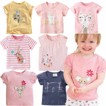 2019 Brand New Summer 2-7 year baby Kids Girls Mice Flower Embroidery Pure cotton Top Quality Cotton t-shirts Tops shirt Tshirts - DISCOUNT ITEM  40% OFF All Category