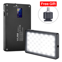 Pocket on Camera LED Video Light Magnetic Dimmable 3500 5700K CRI 96 Photo Studio Fill Light for Canon Sony A6400 DSLR Vlogging