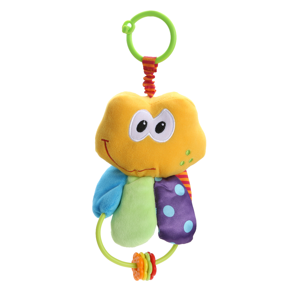 Baby Crib Stroller Plush Toy Baby Infant Toddles Cute Plush Animal Handbell Doll Teether ...