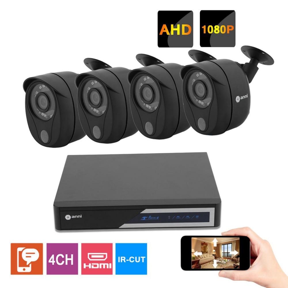 Home Full Protecting Security System 4CH CCTV Surveillance Kit 720P HDMI DVR 4 PCS Video IP