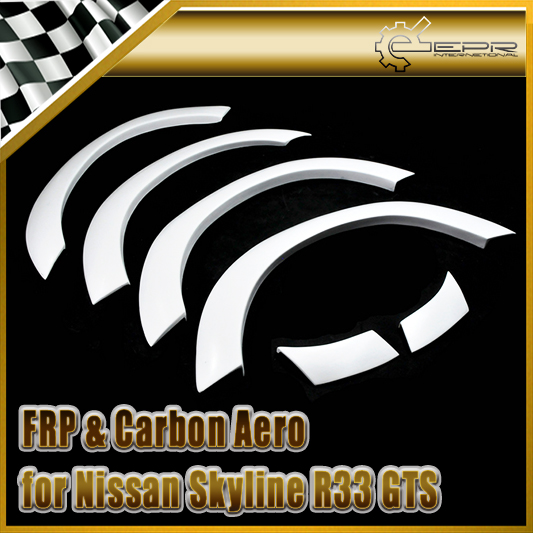 Styling de voiture Pour Nissan Skyline R33 GTS 400R FRP Fiber De Verre Passages De Roues (6 pcs) En Stock