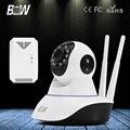 BW Ip-камера HD Автоматическая Сигнализация 720 P Беспроводной Wi-Fi Видеонаблюдения CCTV Камеры 3.6 мм Эндоскопа Монитор Младенца + Детектор газа