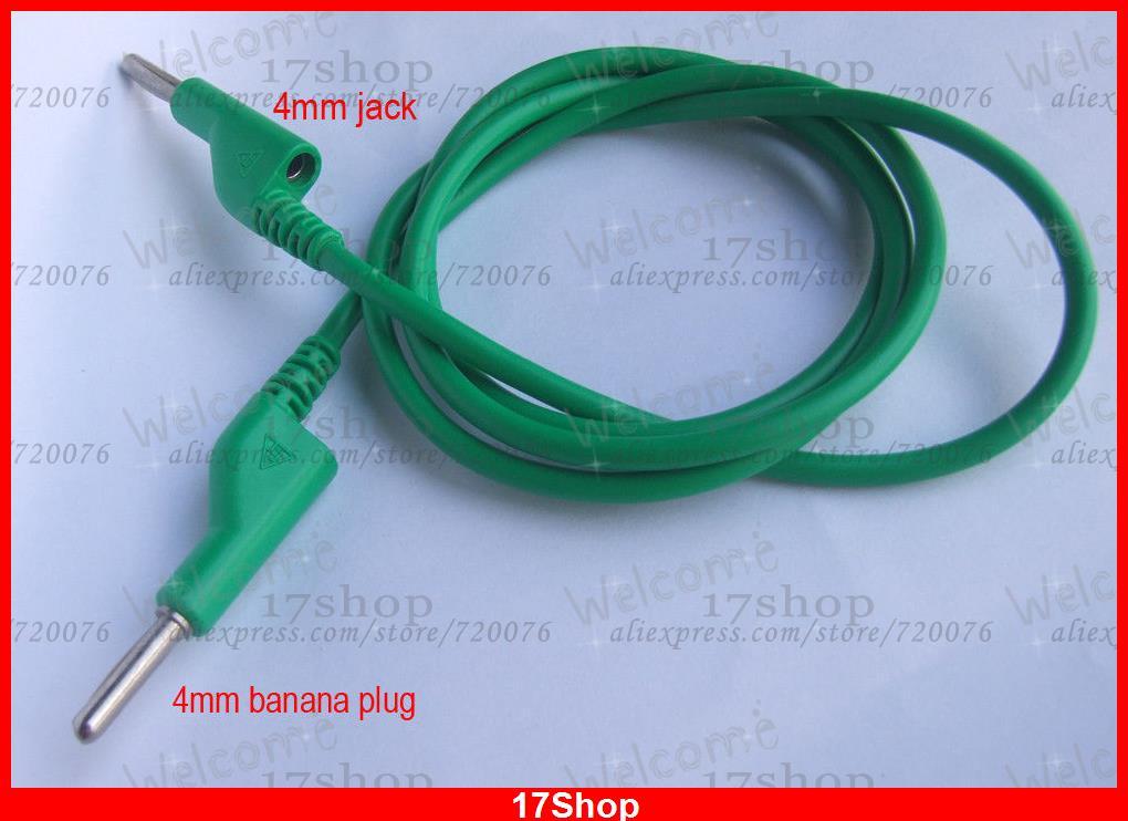 1PCS High quality Copper Dual 4mm banana plug jack Voltage Green ...