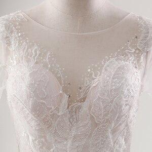 Image 5 - Fansmile 새로운 환상 빈티지 품질 레이스 웨딩 드레스 2020 공 가운 공주 신부 웨딩 드레스 Vestido De Noiva FSM 559F