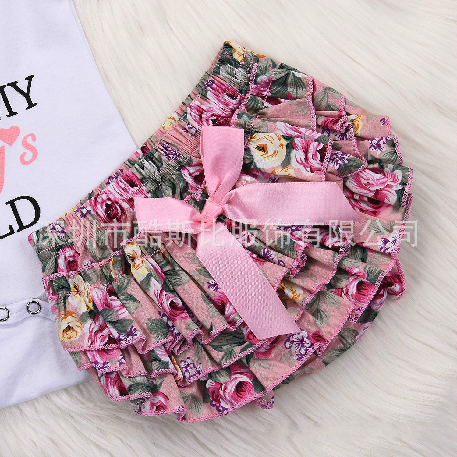 Pudcoco 3pc Baby Girl Romper Daddys Girl Baby Clothes Newborn Baby