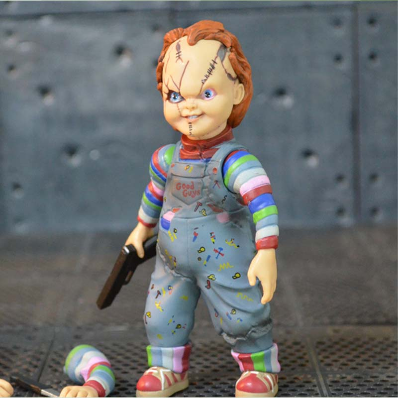 Scary chucky Figure Toys Horror Movies Childs Play Figure Dolls 10cm ...