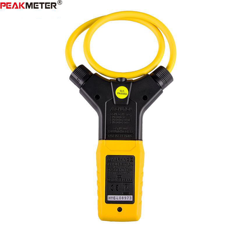 Multímetro LCD Digital Flexible pinza medidor AC pinzas de corriente herramienta de diagnóstico PEAKMETER amperométrico PM2019A - 4
