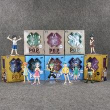 ONE PIECE Childhood Figure LUFFY ZORO ROBIN NAMI Franky SANJI USOPP Japanese Anime Action Figures Kids Toys POP Figurine Doll
