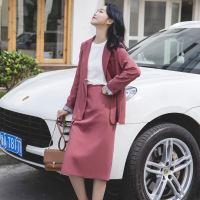 Suit Skirt Suit Female 2019 New Summer New Women's Temperament Loose Suit Jacket Fashion Slim Skirt Two-Piece Suit