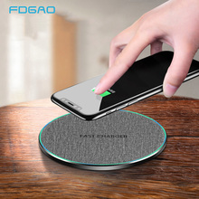 FDGAO 15W Qi Wireless Quick Charger For iPhone X XS 8 Wireless Charging Pad For Samsung Note 8 S8 S9 Fast Wireless Charger Dock