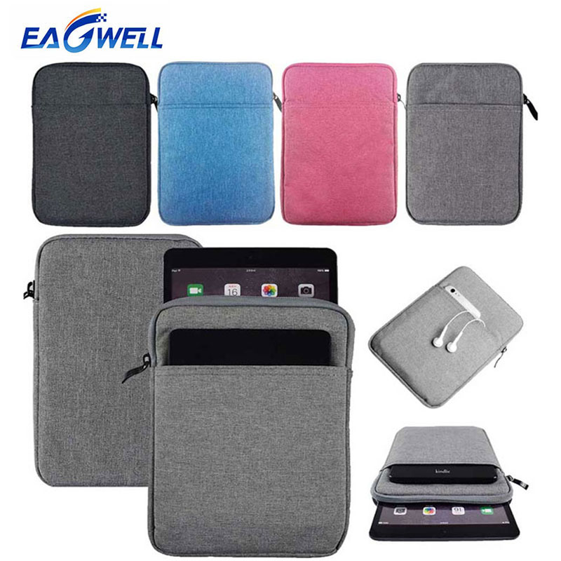 For iPad mini 1 2 3 4 Sleeve Pouch Case Cotton Canvas Bag Shockproof Cover Pouch Pocket for Apple iPad mini 4/3/2/1 Tablet Bag