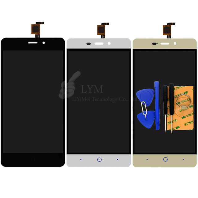"Black White Gold LCD+TP for ZTE Blade X3 A452 5.0"" Replacement LCD Display+Touch Screen Digitizer Assembly Free Shipping+Tools"