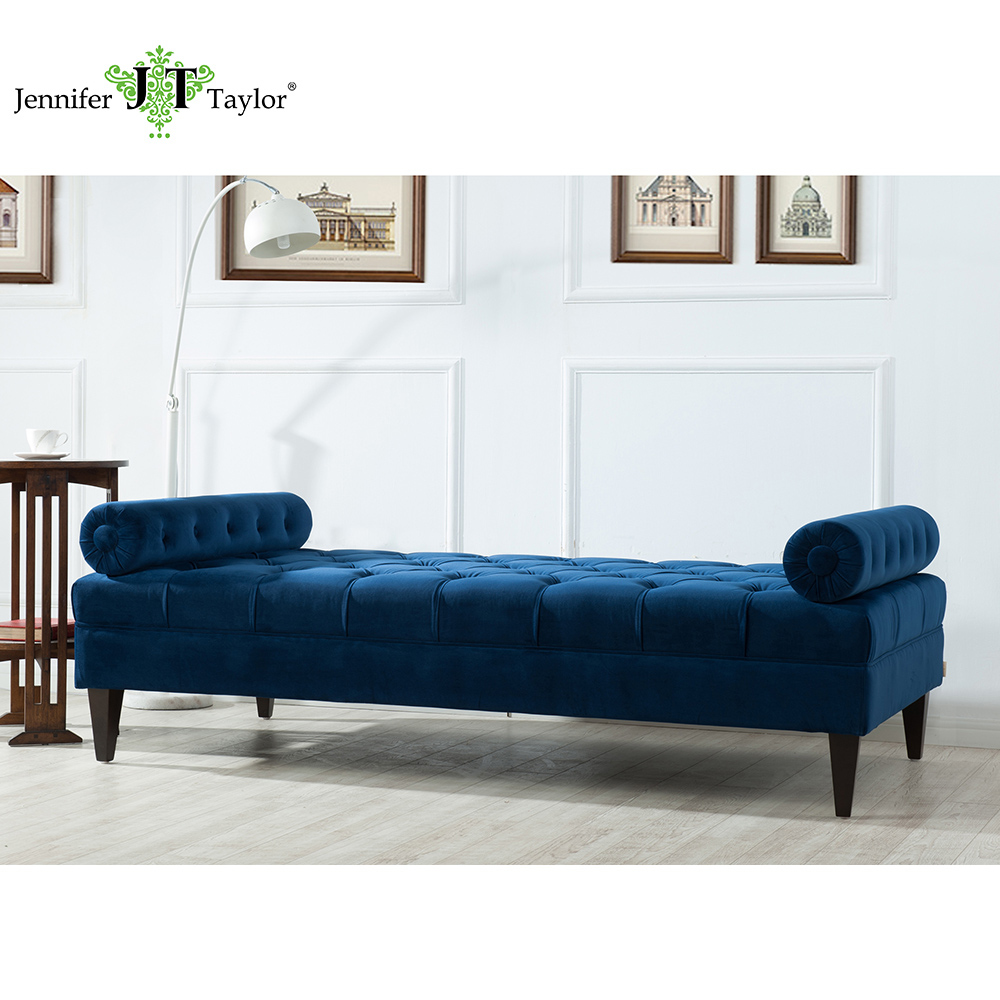 Classic Leather Chaise Lounge Sofa With Pillow Living Room Furniture ...