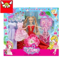 Fashion Plastic Doll diy Play house set lot accessories necklaces bag earrings clothes for barbie doll dress up children toys