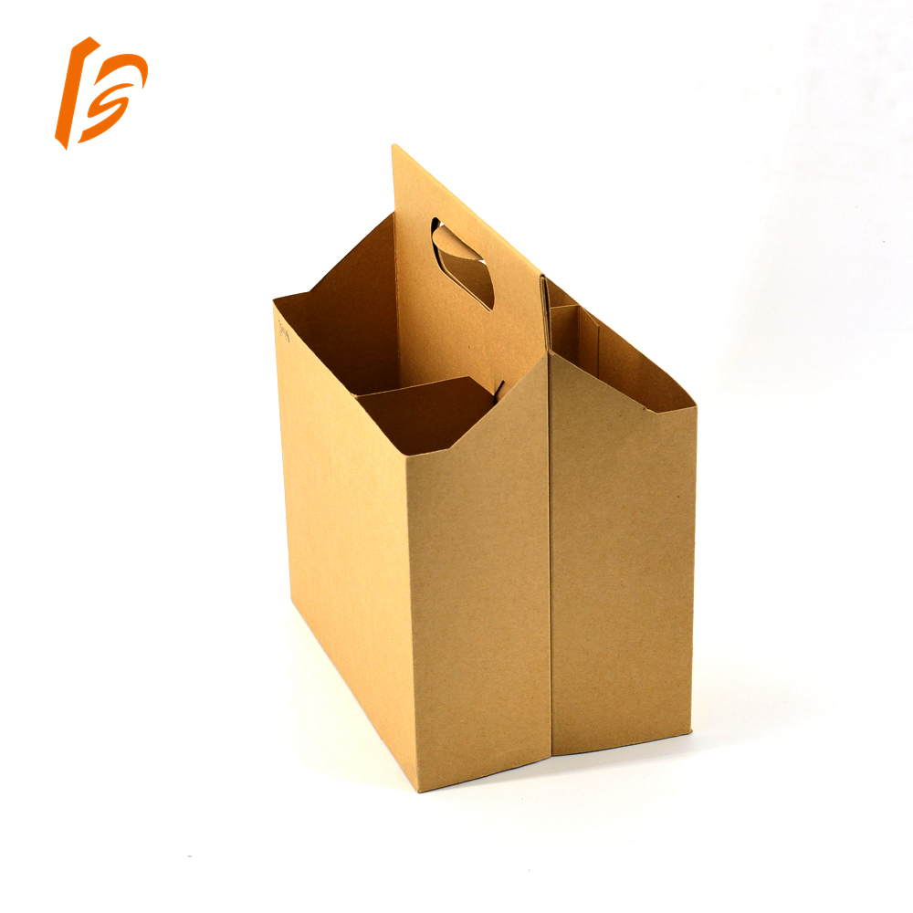 Hot Sale!Custom 2 Bottles Cardboard Wine Carrier With Your Logo