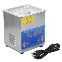 Professional Stainless Steel 1.3L Liter Industry Heated Ultrasonic Cleaner Heater Large Digital Timer And Temperature Display