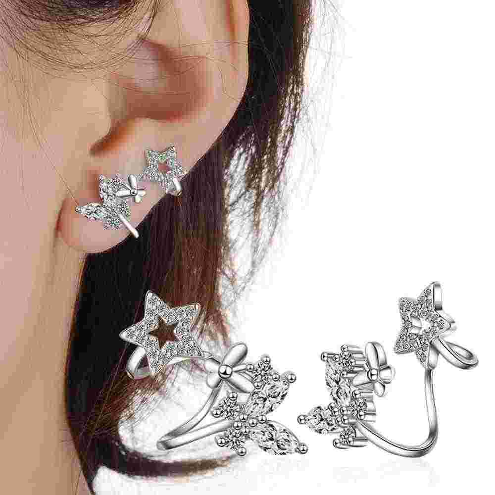 Flower Earrings Vintage 925 Sterling Silver Star Animal Wedding Birthday Party Ear Stud Earring Valentine's Day Jewelry