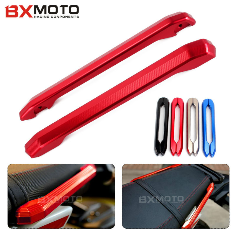 Motorcycle accessories motorcycle Red Rear Grab Bars Rear Seat Grab Rail Handle For Yamaha MT09 FZ09 MT-9 FZ-9 2014~ 2016 car accessories front seat grab handles grab bars 2