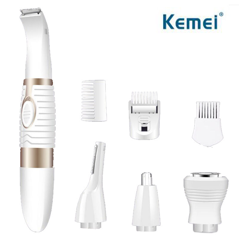 kemei 4in1 electric nose hair trimmer eyebrow beard trimer for men face nose eyebrow Moustache Battery Operated