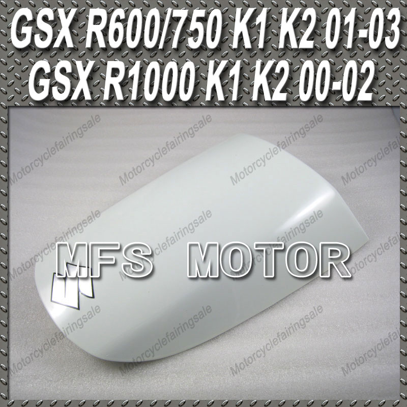 New For Suzuki GSXR 600/750 K1 K2 01-03 GSXR 1000 K1 K2 00-02 Motorcycle Rear Pillion All White Injection ABS Seat Cowl Cover