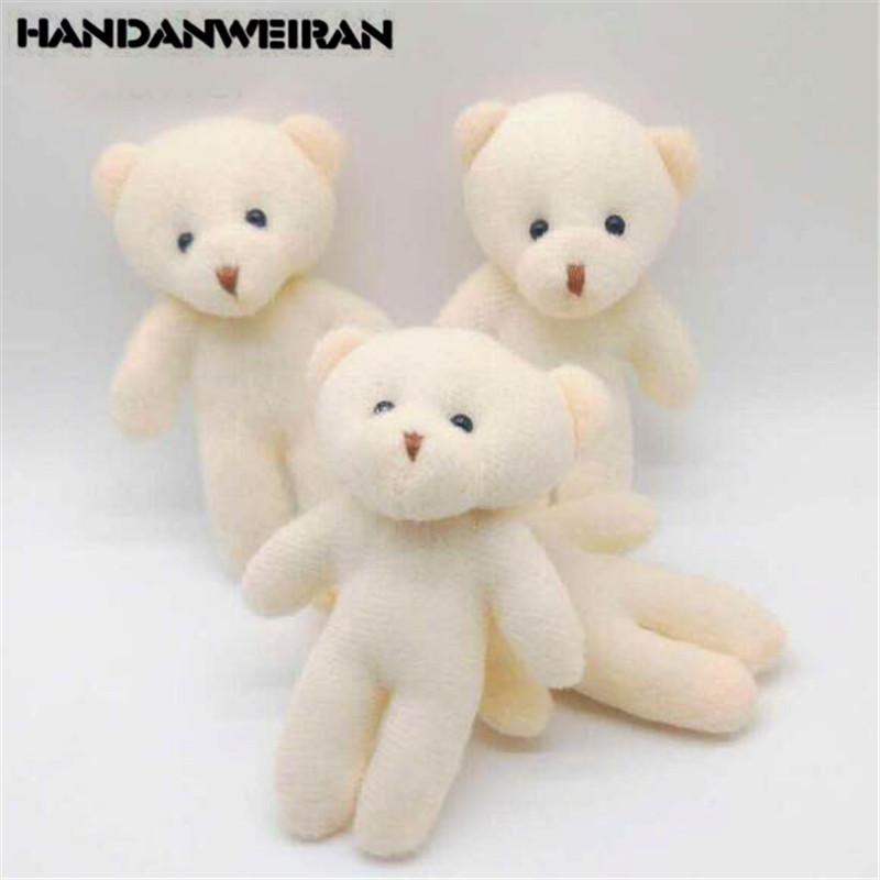 3PCS Mini Plush Bear Toys Small Pendant Cute Bouquet Diamond Bears Doll Soft Stuffed Toy For Kids Girls Gift 12CM