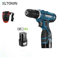 Xltown 16.8v cordless multi function Two speed electric screwdriver home lithium battery rechargeable mini drill gift bit