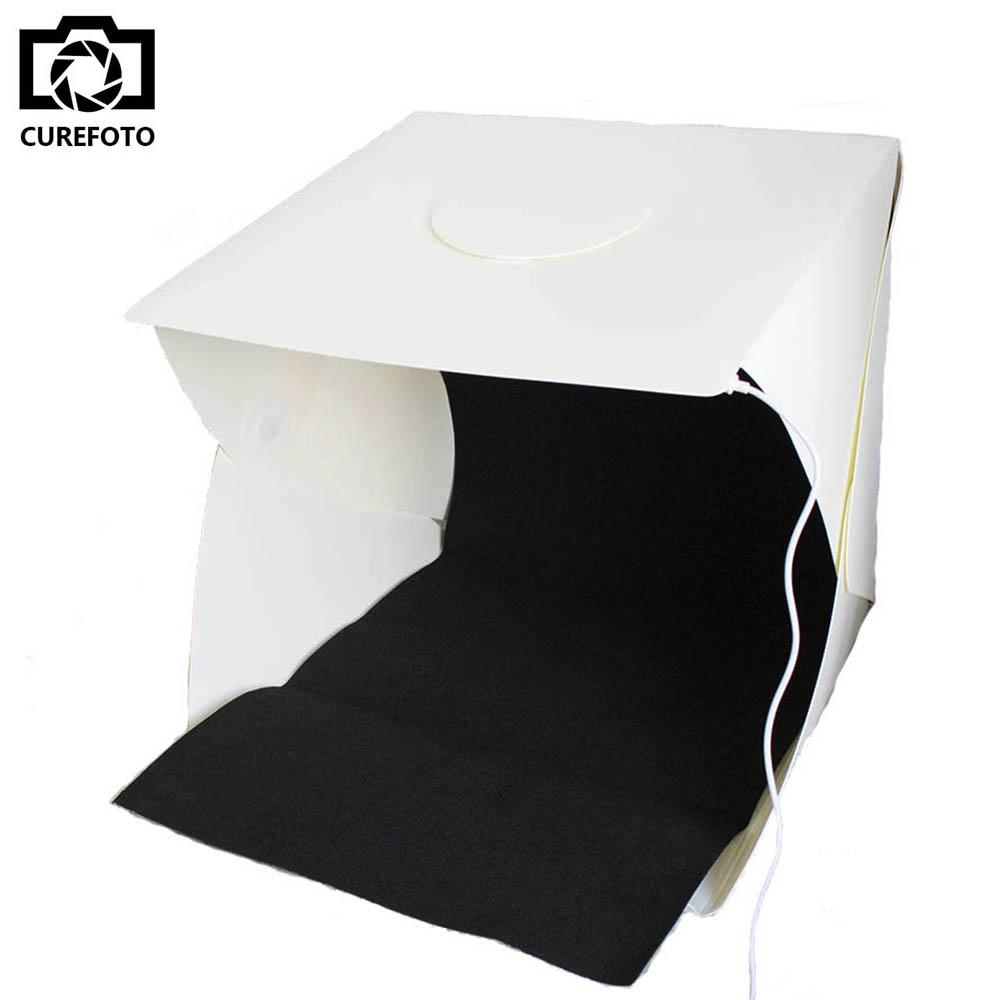 Prix pour 40*40*40 cm Portable Pliant Studio Portable Photographie Studio Pliable Softbox avec Noir/blanc Arrière-Plan Doux boîte Lightbox