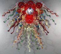 Colorful Hotel Lobby Lamp Spiral Crystal Cheap Glass Chandelier