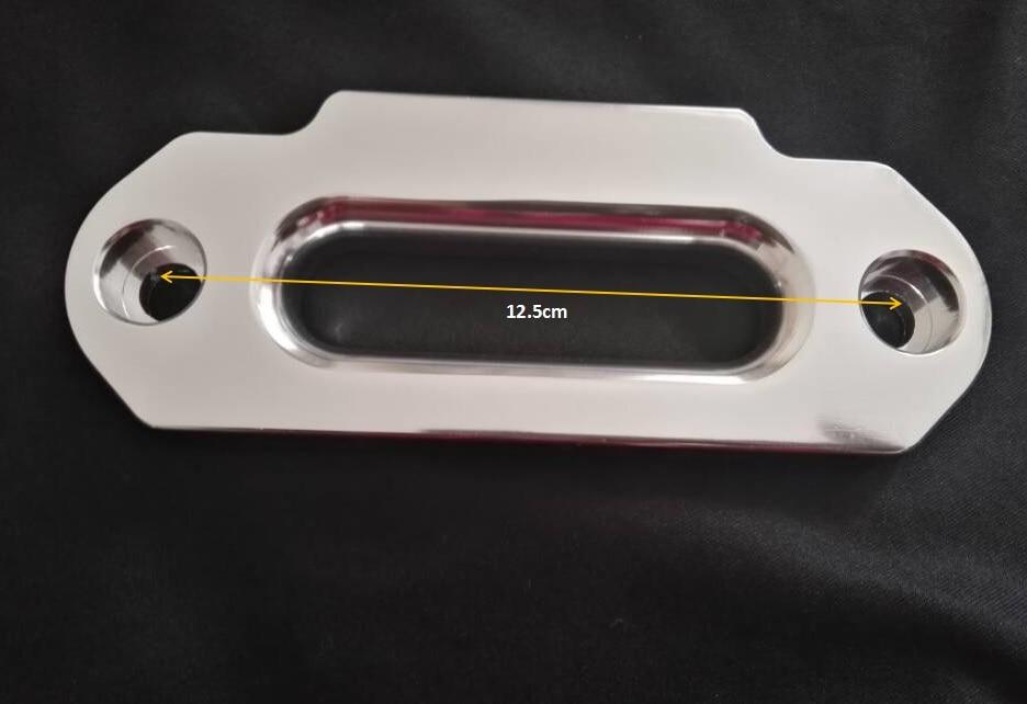 Free Shipping Silver 4000lbs Synthetic Winch Rope Fairlead ,Aluminimum Hawse Fairlead,ATV Winch Fairlead