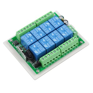 Image 3 - 433Mhz DC 12V 8 CH RF Wireless Remote Control Switch Remote Control System 8CH Relay Receiver +8 Button Transmitter