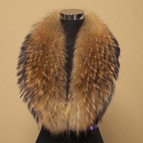 Free Shipping REAL Wonderful raccoon fur collar /scarf/natural Genuine Big Raccoon Fur Collar scarf warp shawl neck warmer 100cm