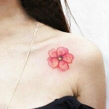10 Pieces In 500 Types Waterproof Temporary Fake Flash Tattoo Tatoo Henna Stickers Taty Tatto Watercolor Flower SYA058-10PC