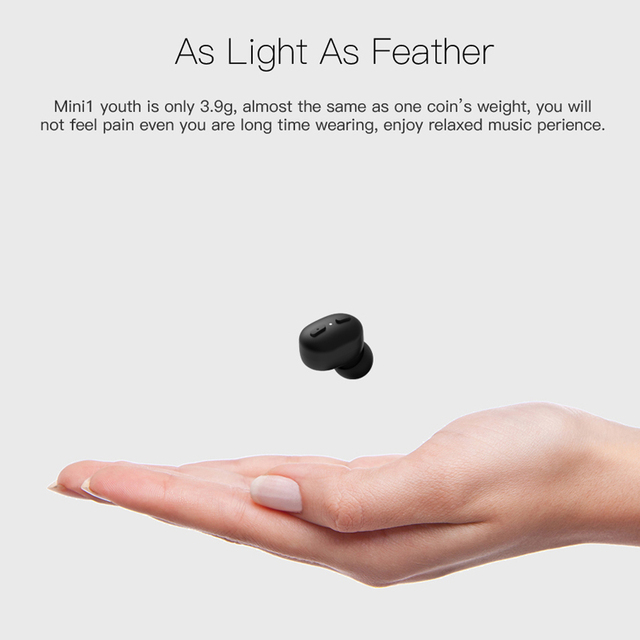 Mini 1 youth Bluetooth headphone wireless headset invisible business earphone