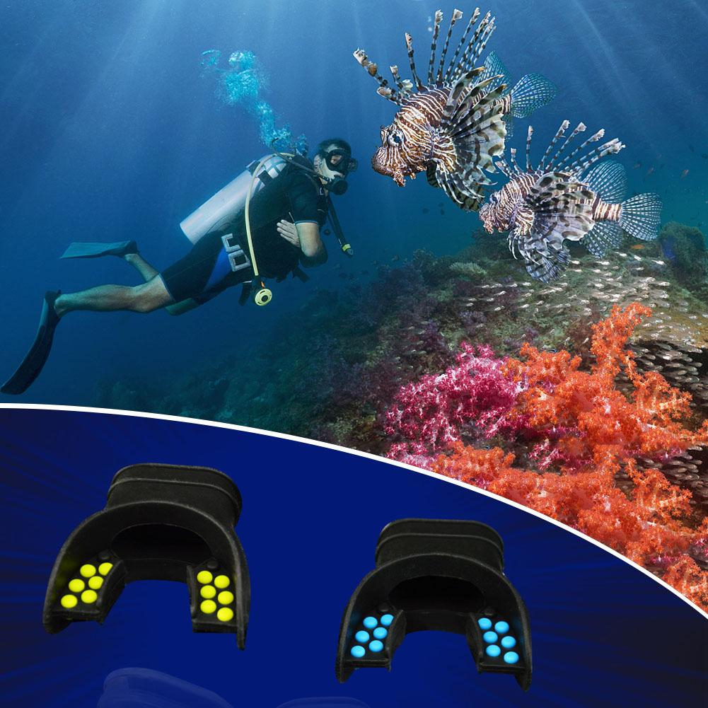 diving silicone w// color tab replacement regulator snorkel fit mouth/'pieES