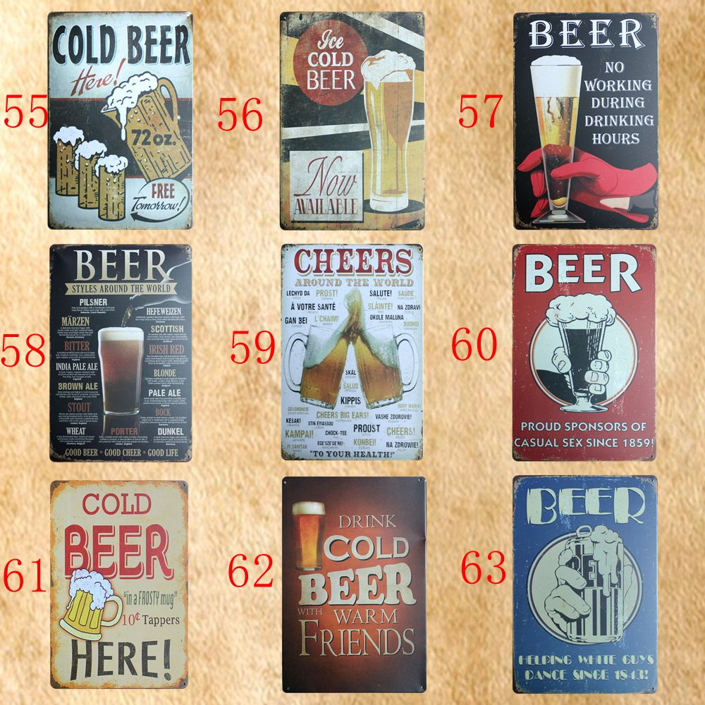 [ Mike86 ] BEER Style Tin signs Bar Metal painting Vintage Wall Plaque Craft HP-7 20*30 CM