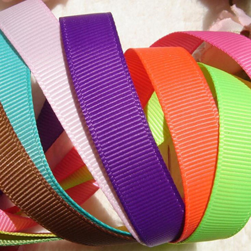 10yards ( 9meters ) Pick Size 6mm 9mm 15mm 19mm 25mm 38mm 50mm Width 100% Polyester Solid Color Plain Grosgrain Ribbons(China)
