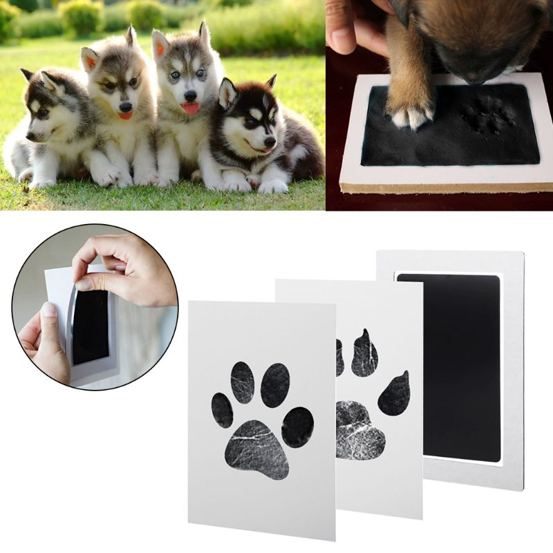1Set Baby Handprint And Footprint Ink Pads Paw Print Ink Kits For Babies And Pets