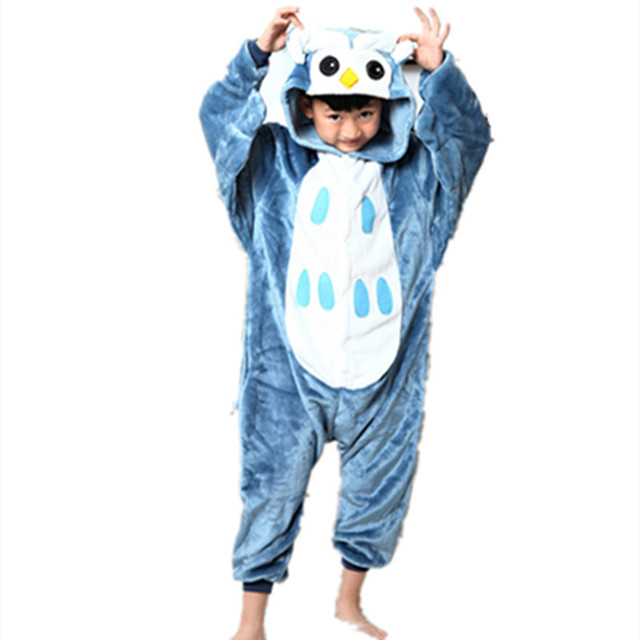Anime Cute Owl jumpsuit Cosplay night Owl Onesie Children Kids Flannel Animals Pajamas Anime Cartoon Costumes  sc 1 st  AliExpress.com & Anime Cute Owl jumpsuit Cosplay night Owl Onesie Children Kids ...