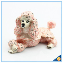 Wholesales Poodle Trinket Jewelry Box Vintage Dog Gift Boxes for Jewellery Free Shipping