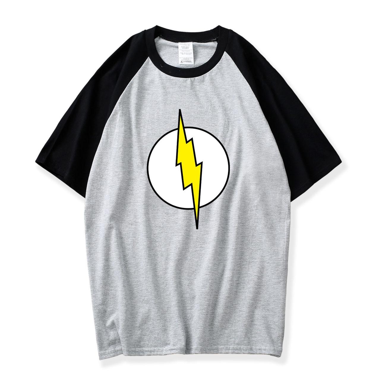 The Big Bang Theory T-shirt Sheldon Cooper Super Hero T Shirt Men Superman Raglan Tee TBBT Shirts 2018 Summer Cotton Loose Shirt