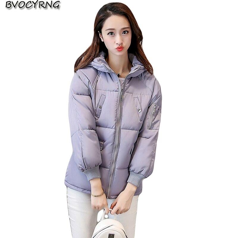 New Hot Winter Eiderdown cotton Women Loose Parkas Fashion Hoodies Short Style Jacket Coat Temperament Elegant Outerwear Q705 hot style three points children quilted loose coat