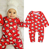 Cute Kids Infant Newborn Baby Winter Christmas Party Costumes Santa Claus Romper Clothes Toddler Boy Girls 2018 New Year Gifts