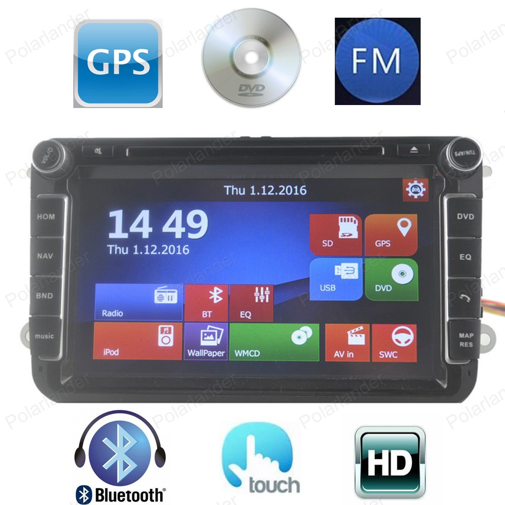 Two Din 8 Inch CarDVD Player For VW/POLO/PASSAT/Golf/Skoda/Octavia/SEAT/LEON 3G Wifi Radio GPS Windows Ce system