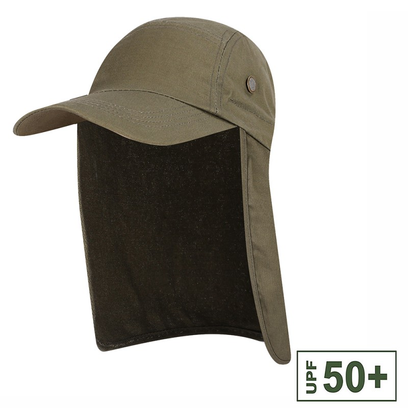 Quick Dry Fishing Hat Sun Visor Cap Hat Outdoor UPF 50 Sun Protection with Ear Neck Flap Cover for HikingQuick Dry Fishing Hat Sun Visor Cap Hat Outdoor UPF 50 Sun Protection with Ear Neck Flap Cover for Hiking