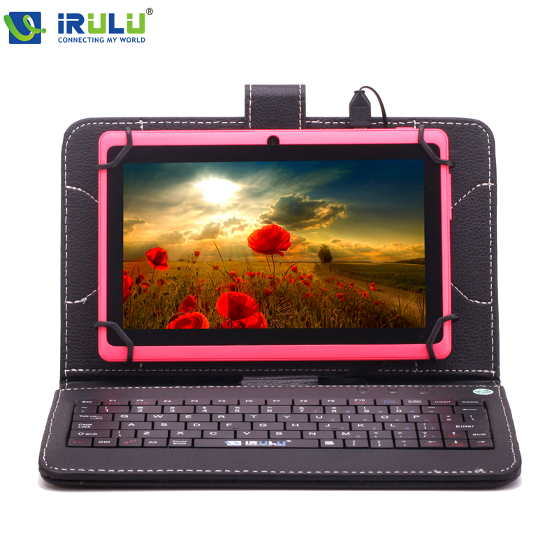 iRULU eXpro X1 71024*600 HD Google APP Play Android 4.4 Tablet PC Quad Core 16GB ROM WIFI OTG With Black Keyboard Pink New Hot irulu expro tablet x1 7 1024 600 hd