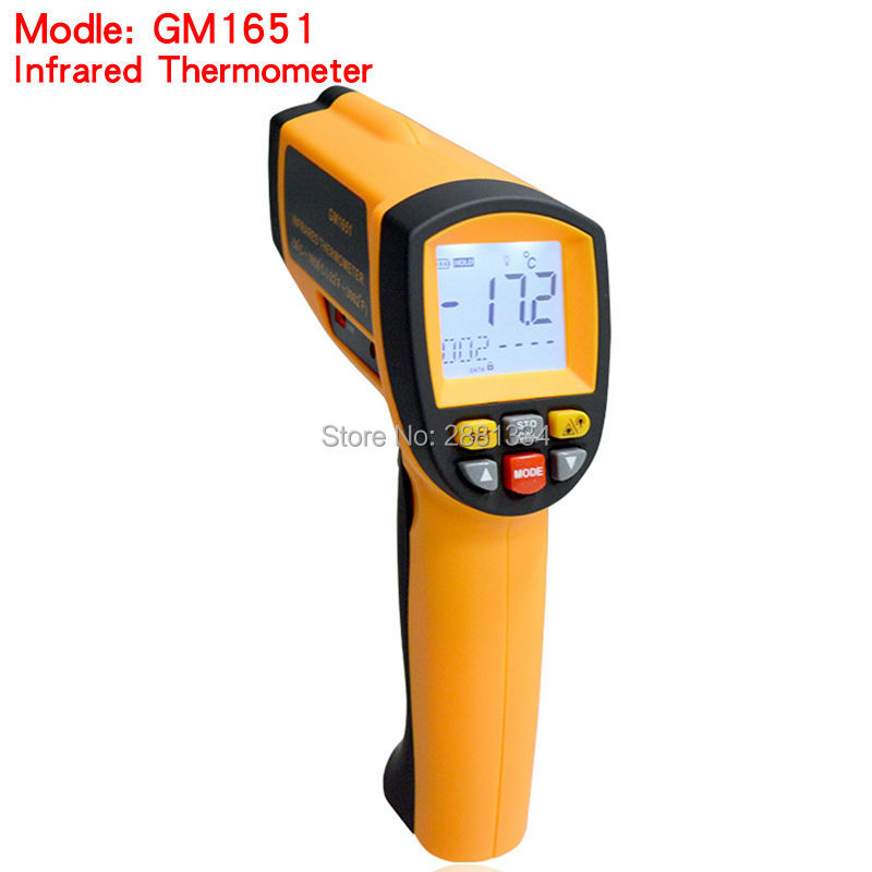 Laser Temperature Gun Digital Infrared Thermometer GM1651 Non-contact Thermometer Tester -30~1650 Degree Without retail Box uyigao ua1750 authorized non contact digital laser infrared temperature gun thermometer