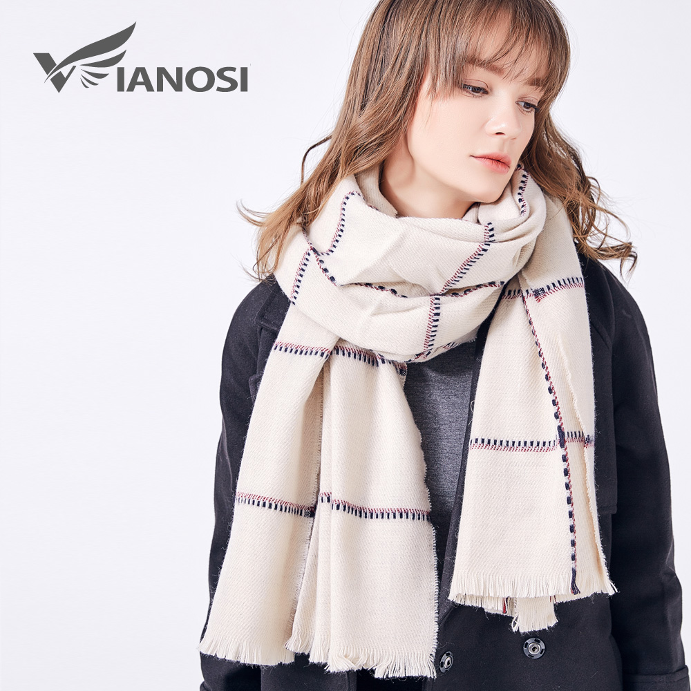 VIANOSI Women Scarf Newest Design Soft Warm Scarf Winter Brand Shawl Fashion cachecol Thicken Long echarpe Woman VA212