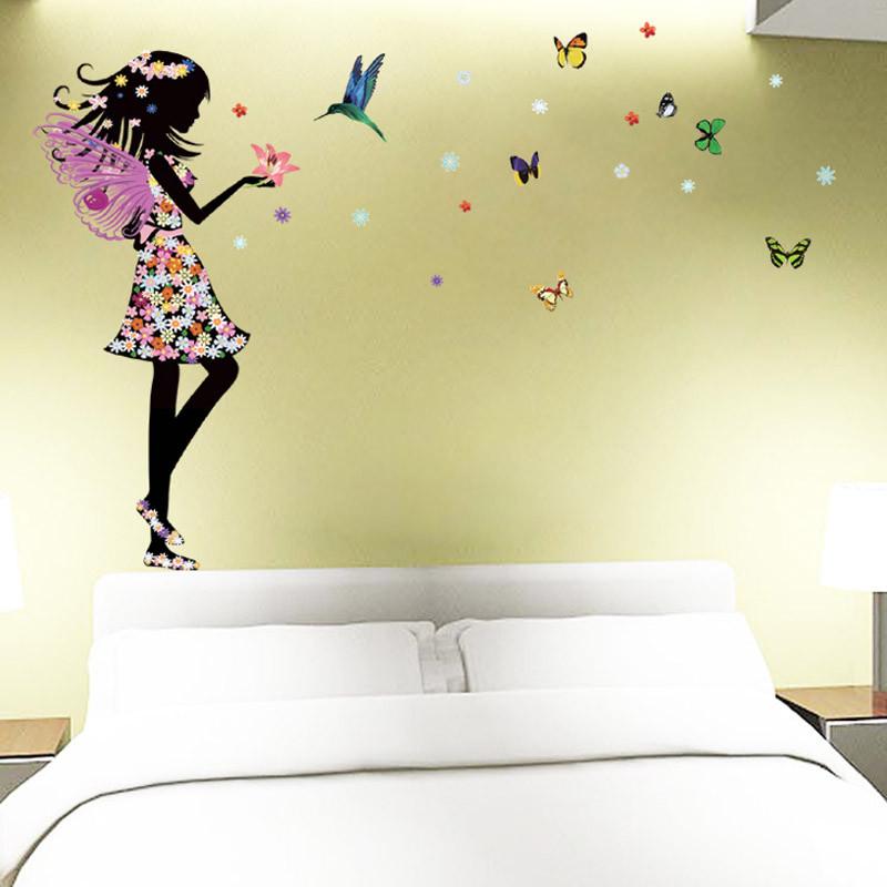 HTB1ciylKpXXXXcKaXXXq6xXFXXXS Beautiful Butterfly Elf Arts Wall Sticker For Kids Rooms